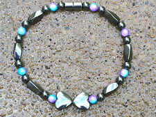 Women's MAGNETIC Hematite Powerful  Bracelet Anklet 1-2-3 Row w/ magnetic clasp