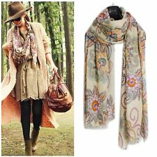 1pcs Vintage Women Nation Patterns Wrap Shawl Scraves Knitted Scarf Bohemian