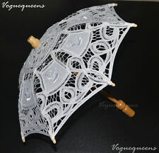 VQ Kid Size Belle Lace Flower Girl Parasol Umbrella For Wedding Photos