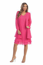 Short Mother Of Bride Dress Long Sleeves Jacket Plus Size Church Semi Formal New