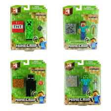 "MINECRAFT 3"" ACTION FIGURES ~ ZOMBIE CREEPER STEVE ENDERMAN ~ BRAND NEW IN PACK"