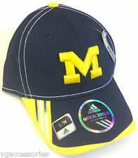 NCAA University of Michigan Wolverines Adidas Player Structured Flex Fit Cap Hat