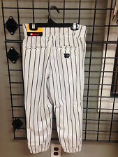 Wilson Youth Pinstripe Baseball Pants with Beltloops white w/ black NWT knickers