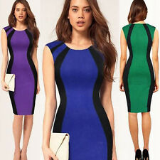Elegant Lady Womens Slim Bandage Sleeveless Office Wear To Work Pencil Dress