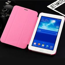 Leather Stand Flip Smart Cover Case For Samsung Galaxy Tab 3 7.0 Lite T110 T111