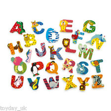 Wooden Animal Letters NEW Wooden Personalised Name £2.95 Flat Rate P&P within UK