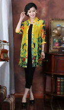 yellow green red Chinese voile/silk Women's Top Dress/T-shirt blouse 10.-.20