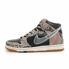 Nike Dunk CMFT PRM QS [716714-001] NSW Casual Snakeskin Black/Silver-Sail