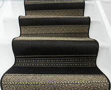 Long Cheap Wheat Beige Black Cut to Measure Quality Sisal Style Stair Carpet Rug