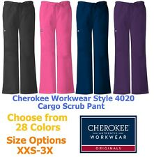 Cherokee Workwear 4020 Women's Cargo Scrub Pant Pick Size & Color Free Shipping!