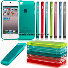 For iPhone 5/5s Gel Transparent Crystal TPU Shell Silicone Soft Case