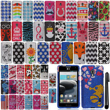 For LG Optimus F6 D500 MS500 Design DIAMOND BLING Crystal Hard Case Cover Phone