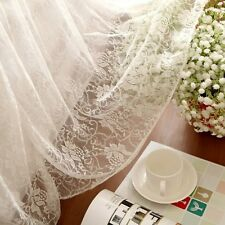 Luxury and Elegant Romantic White Two Layers Lace Cotton Bed Skirt 1413