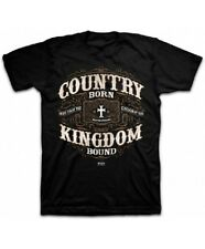 Men's Christian T-Shirt Black Country Bron Kingdom Bound God Jesus Bible Tee