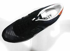 Men's  Armani Jeans AJ  casual sneaker SUEDE AND TECHNICAL FABRIC/LOGO VM512 blk