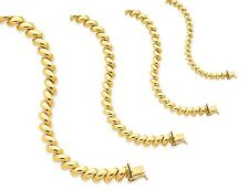 """14K Yellow Gold San Marco Bracelet 7"""" ~ 8"""" lengths * US Made  5 widths available"""