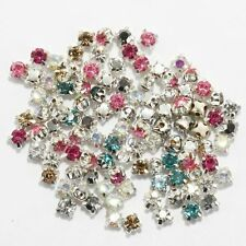 200pcs Rhinestone Crystal Gemstone Spacer Beads For Jewelry Making 4mm New 2015