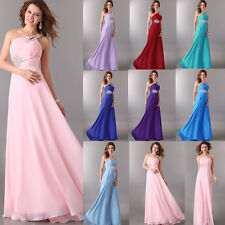 New Long Chiffon Evening Prom Party Gown Celeb Formal Bridesmaid Cocktail Dress