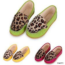 Kids Baby Toddler Girls Fashion Leopard Soft Leather Flat Sneaker Crib Shoes