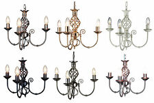 TRADITIONAL CLASSIC BARLEY KNOT TWIST 3 ARM CEILING LIGHT FITTING CHANDELIER