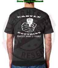 CASTLE DOCTRINE PROTECT WHAT'S YOURS T-SHIRT GUN RIGHTS SIZES: SM - 3XL