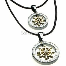 His or Hers Matching Compass Shape Pendant Necklace Fashion Jewelry New Gifts