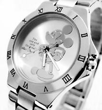 New ladies/girls stainless steel designer micky mouse watch in silver or bronze
