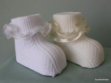 BNWT Baby Girls Frilly Special Occasion/Christening Socks