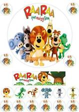 18 RAA RAA Noisy Lion Birthday Party Edible Cup Cake Topper Icing Or Wafer Card