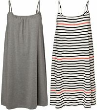 Vero Moda Zanta Bia Sleeveless Mini Dress - Light Grey, Striped Off-White - XS-L