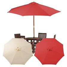 9Ft 8 Rib Patio Umbrella Cover Canopy Replacement Top Outdoor Tan Red Beige