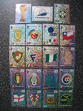 1998 Panini France 98 World Cup Stickers Foils Shinys Badges Trophy Mascot
