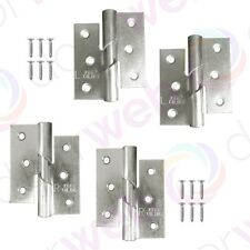 DOOR HINGES RISING BUTT Left / Right Handed Lift Off Hinge Pair ZINC PLATED 75mm