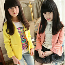 Toddlers Kids Girls Coat Floral Lace Blazers Jacket Slim Fit Suits Outwear 2-10Y