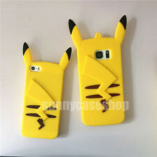 Cute Cartoon Pikachu Silicone soft Case cover for samsung galaxy S5 note3