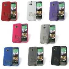 Gel Rubber soft Silicone pure TPU Skin Cover Case with S-line for HTC ONE M8