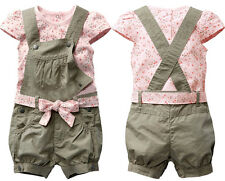 Baby Girl Kids Toddler Summer Playsuit Jumpsuit T-shirt Clothes Trousers Pants