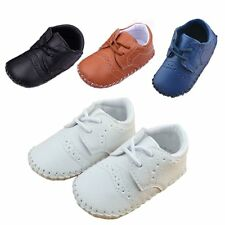Baby Boy Wedding Christening Baptism Formal Pram Shoes USSize 1 2 3 4/3 6 12 18M