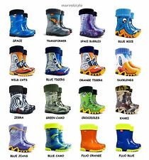 BOYS KIDS CHILDREN WELLINGTON BOOTS WELLIES RAINY BOOTS UK size 3-2.5 /EU 20-35