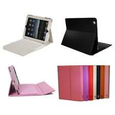Wireless Bluetooth Keyboard PU Leather Case Cover for iPad 2/3/4 *US SELLER*