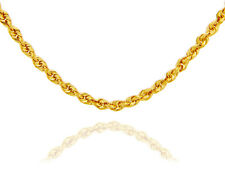 Solid Dainty Gold Rope Chain with Lobster claw Clasp 1.5mm Made in USA