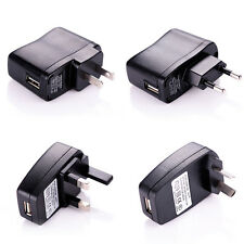 Black USB AC DC Power Supply Wall Charger Adapter Phone MP3 MP4 US AU EU UK Plug