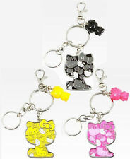 Hello Kitty Colors Key Chain Keychain Yellow, Black, or Pink Sanrio  Anime