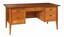 Amish Contemporary Shaker Computer File Desk Home Office Furniture Solid Wood