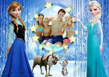 Personalised Any Photo Frozen Anna & Elsa A4 or A3 Laminated Poster Single Sided
