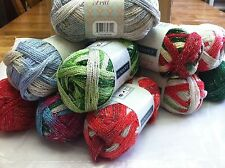 Sundance Holiday Frill Christmas Yarn Assorted Colors Shimmery Combined Shipping