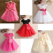 Gown Wedding Prom Baby Bridesmaid Party Flower Shiny Girls Kids Princess Dresses