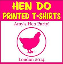 Hen Do Personalised T-shirts -  Hen Picture