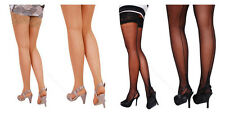 Sexy Hold-Ups Cuban Heel With Back Seam -  20 Denier- Size S, M, L, XL