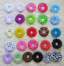 Wholesale Girl's 2inch small baby daisy Flower Hair bow Clip accessories 26color